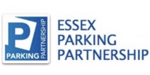 Blue NEPP logo with the text Essex Parking Partnership