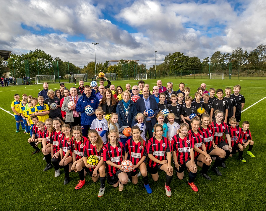 Great Notley Football Pitch opening day on Saturday 28th September 2019.