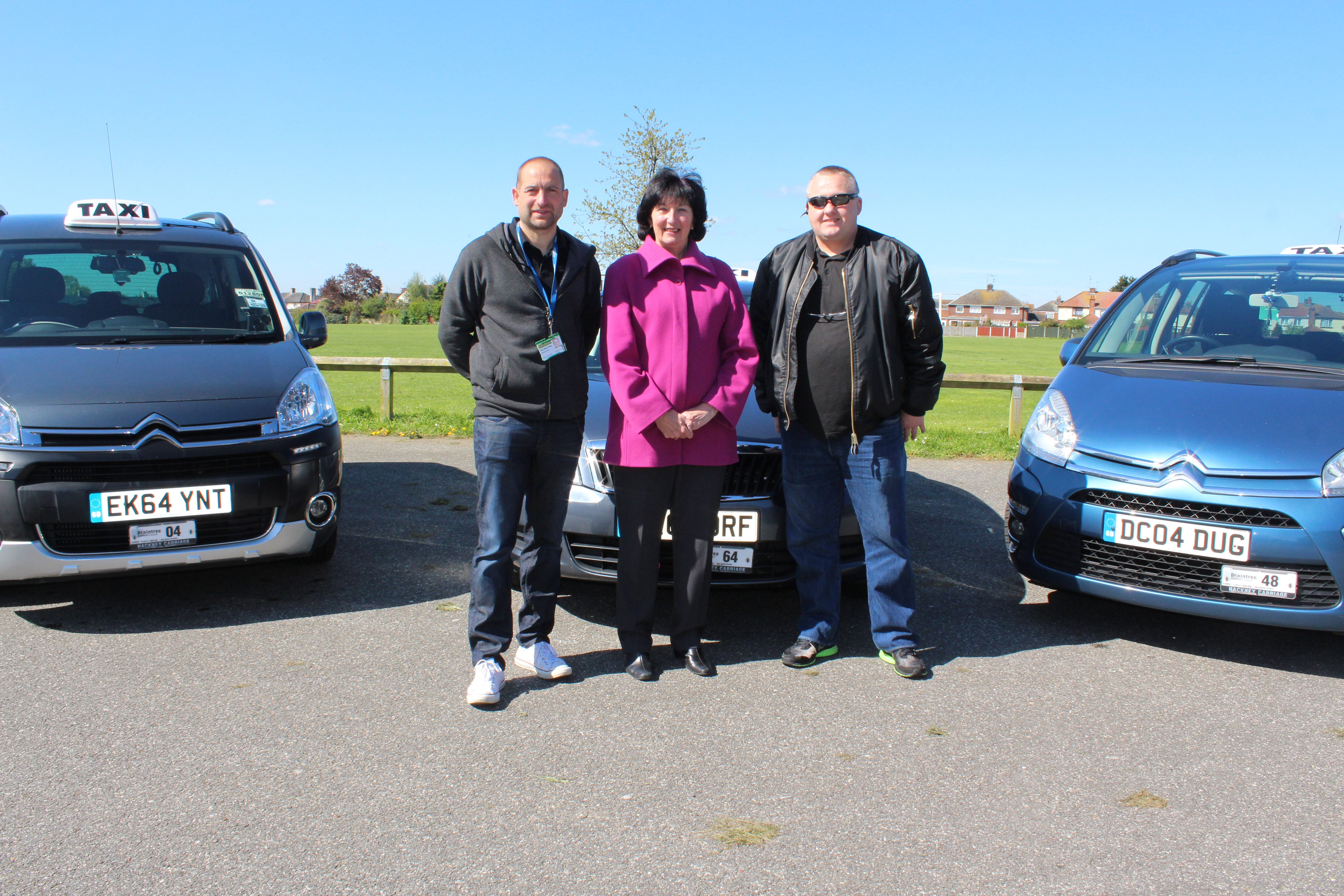 Taxi drivers photo with Cllr Wendy Schmitt