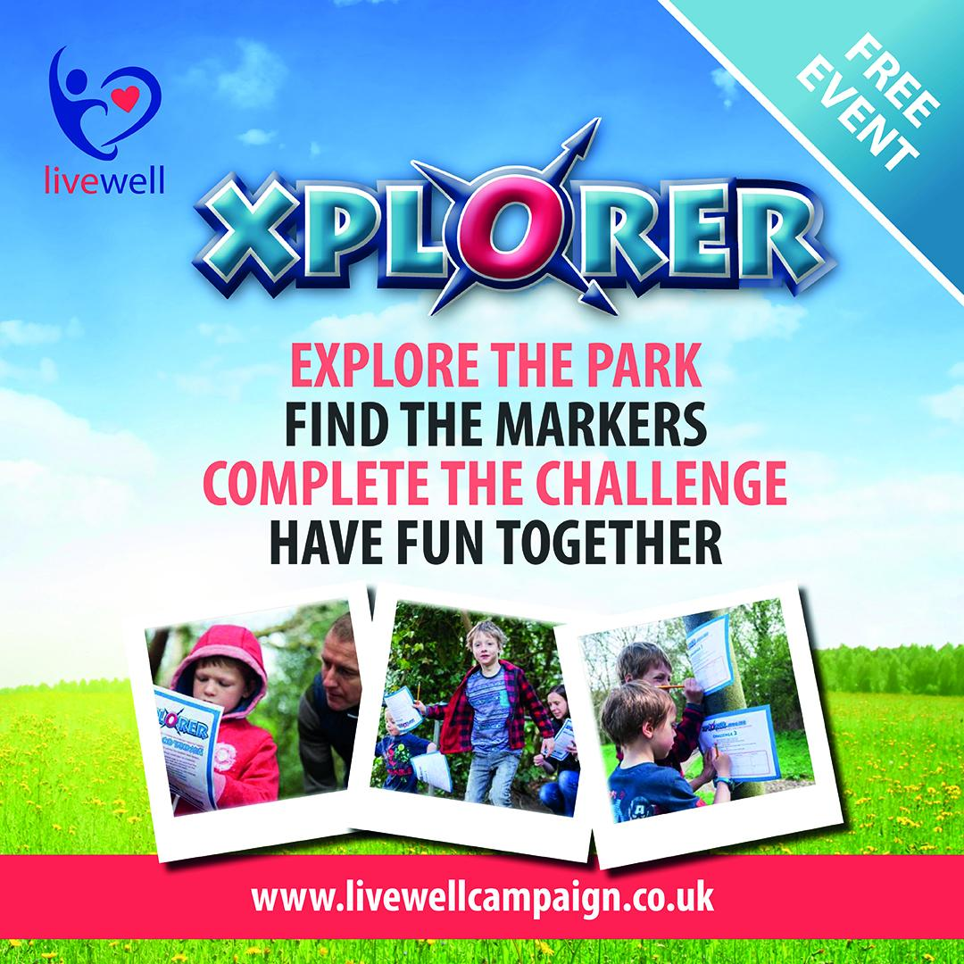 Explore the park, find the markers, complete the challenge, have fun together