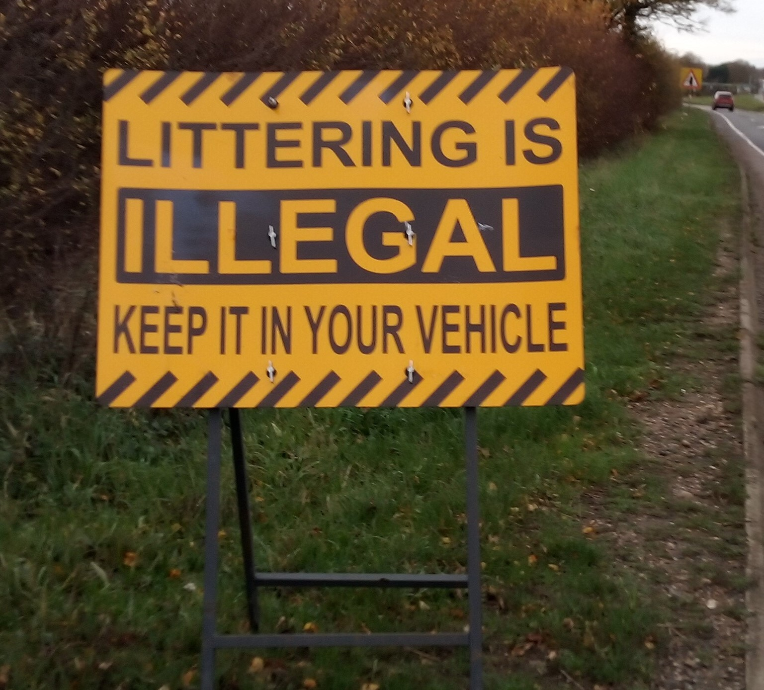Littering is illegal keep it in your vehicle