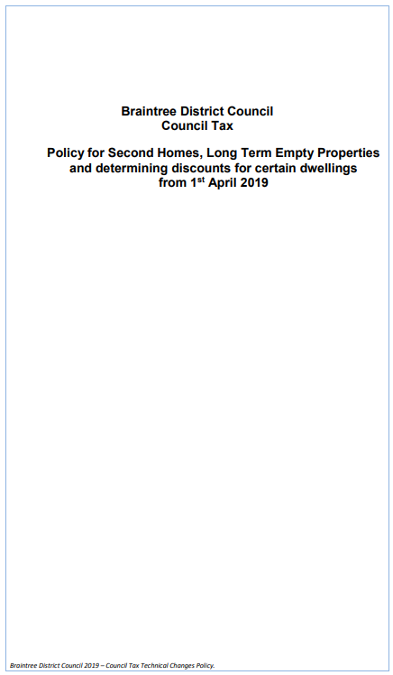 Decorative thumbnail image for Long term empty premium policy 2019