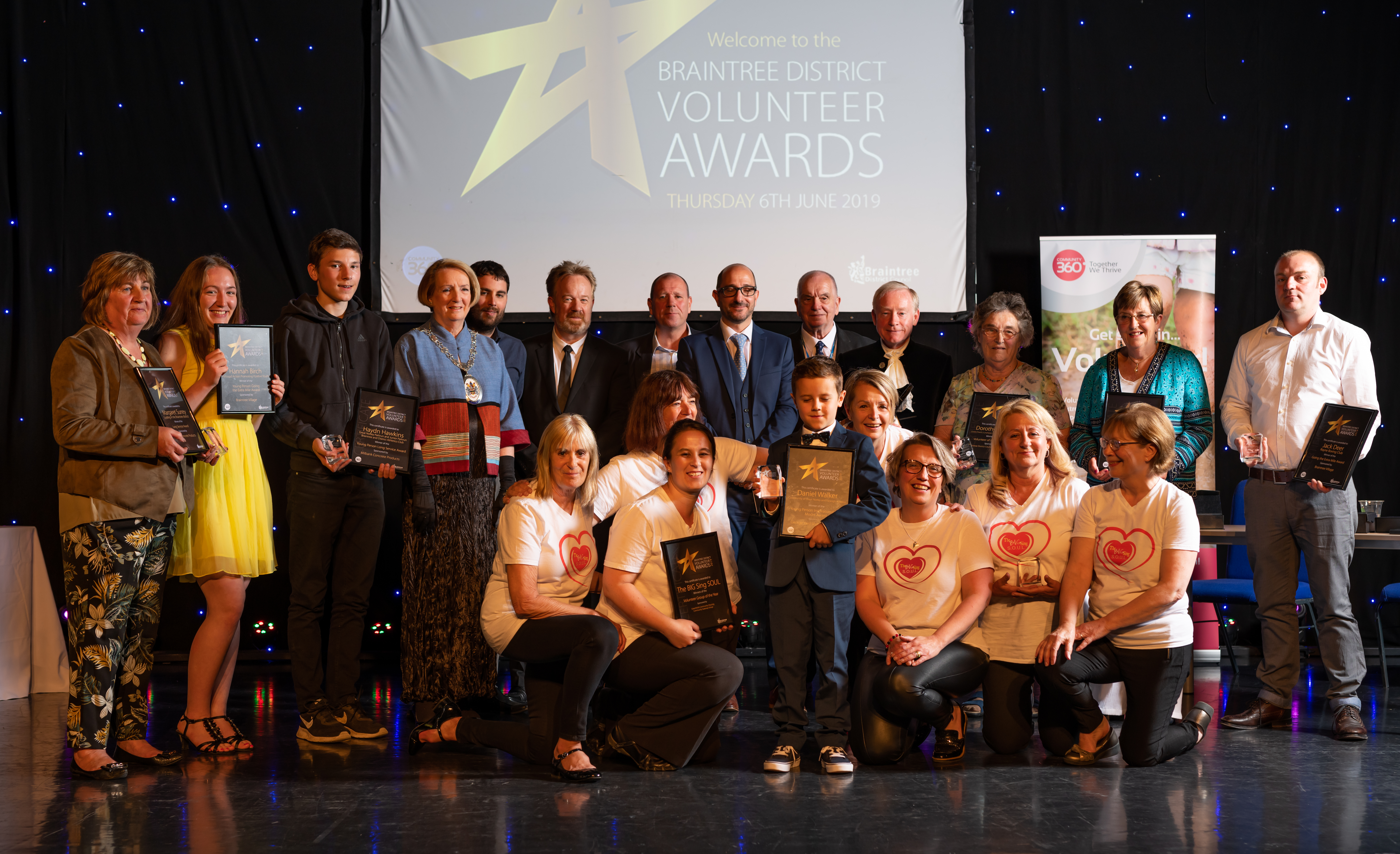 Braintree District Volunteer Award winners