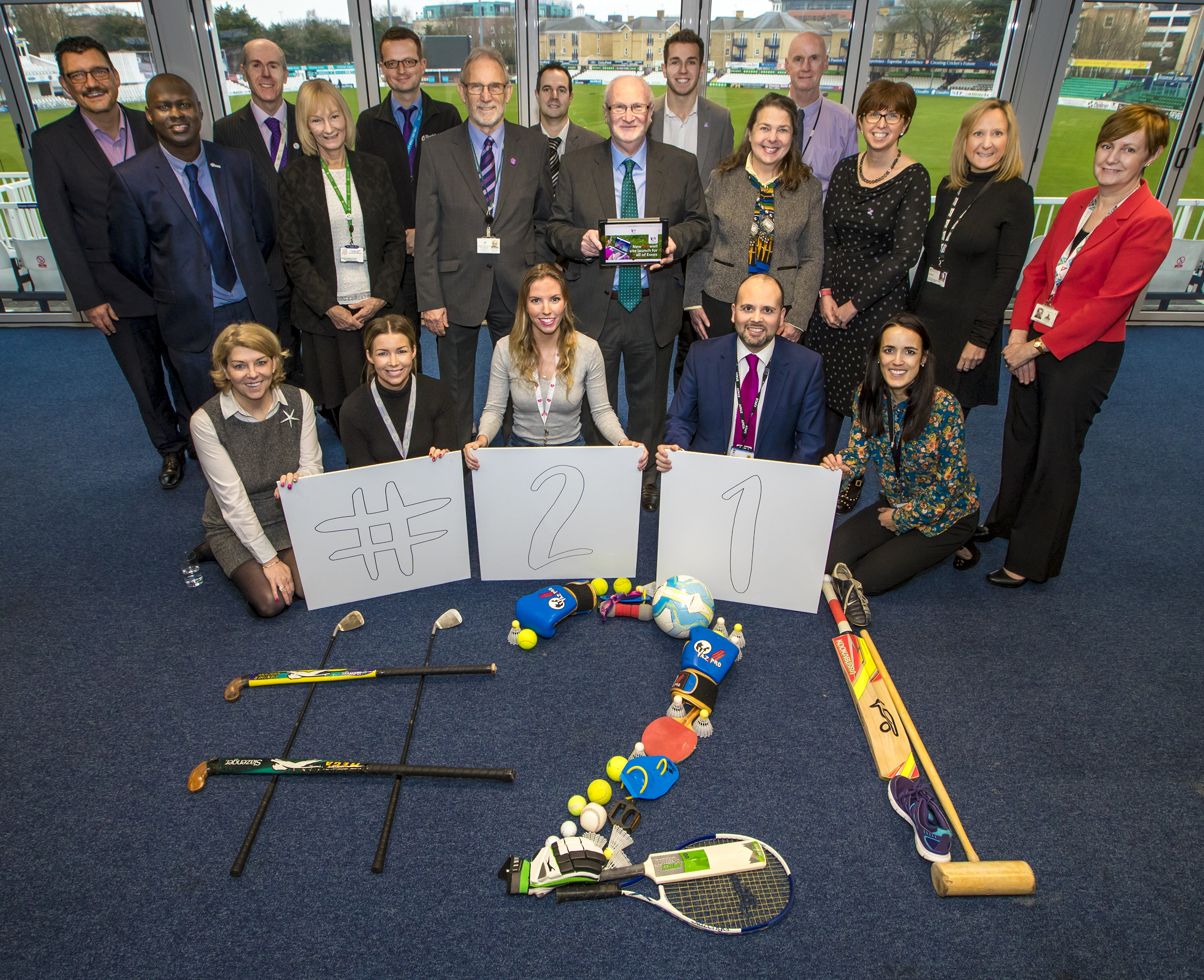 Livewell website and campaign launch photo with Essex authorities