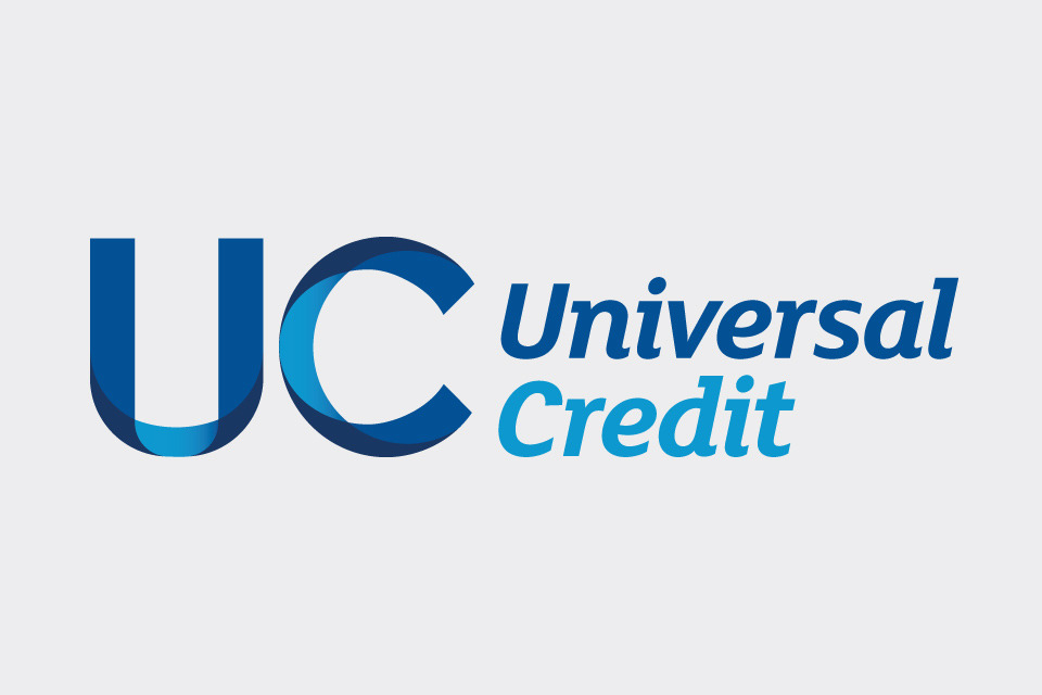 Text, UC Universal Credit in blue colour